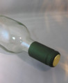Shrink Wrap Wine Bottle Toppers/100- Metallic Green