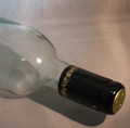 Shrink Wrap Wine Bottle Toppers/100- Black w/ Gold