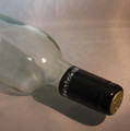 Shrink Wrap Wine Bottle Toppers/100- Black w/ Silver