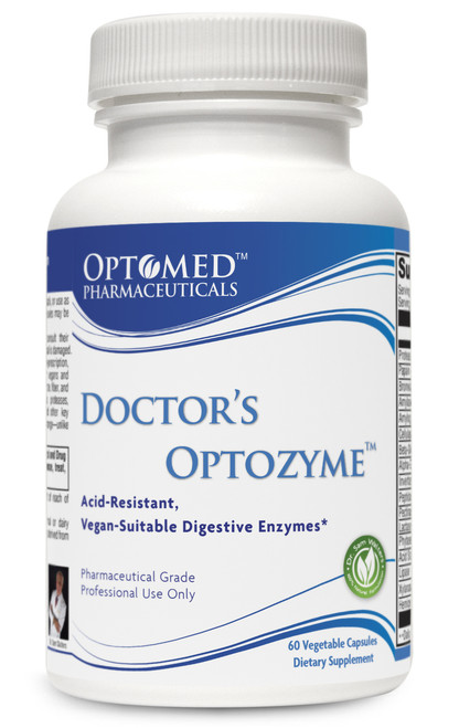 Doctor's Optozyme™~Acid Resistant, Vegan-Suitable Digestive Enzymes* 60 Vegetable Capsules  Pharmaceutical Grade Professional Use Only
