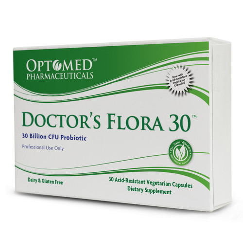 Doctor's Flora 30~30 Billion CFU Probiotic Dairy & Gluten Free Professional Use Only 30 Acid-Resistant Vegetarian Capsules, Dietary Supplement