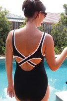 Cross Back Maternity One Piece