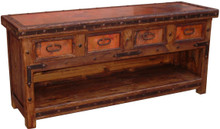San Miguel 84'' Copper Top Console