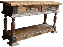 Torno Marble Top Carved Console
