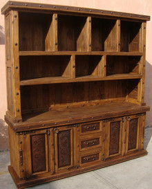 Tenampa 2pc Bookcase w/ Tooled Leather