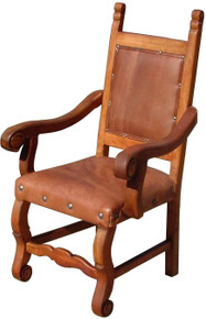Mesquite Hacienda Arm Chair w/ Leather ** SALE 40% OFF, 3 LEFT IN STOCK