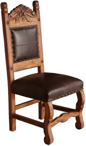 Hacienda Carved Chair w/ Leather ** SALE $100 OFF