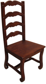 Emperador Wood Seat Chair 50% OFF * 4 LEFT IN STOCK