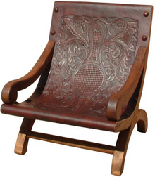 Recostada Mesquite Tooled Leather Arm Chair