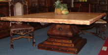 Sinaloa Square Marble Top Dining Table