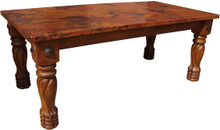 Mesquite Torneada Copper Top Dining Table