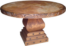 Carved Marble Top Dining Table