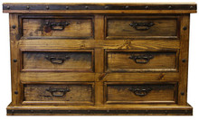 Six Drawer Hacienda Dresser