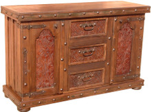 Lilliana Tooled Leather Dresser