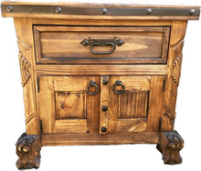 Andrade Carved Nightstand ** SALE 25% OFF, 2 LEFT AT THIS PRICE
