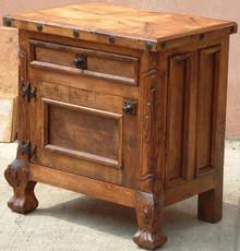 Mesquite Carved Nightstand