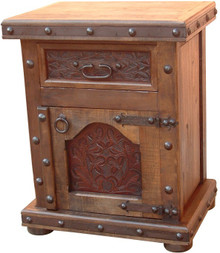 Mesquite Hacienda Tooled Leather Nightstand