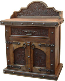 Merida Tooled Leather Nightstand