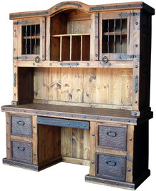 Hacienda Desk w/ Top Hutch
