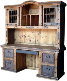 Hacienda Desk w/ Top Hutch