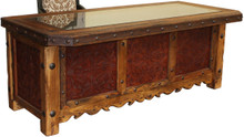 Hacienda Tooled Leather Desk