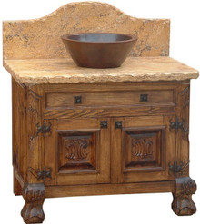 Leon Full Marble Top Sink Cabinet