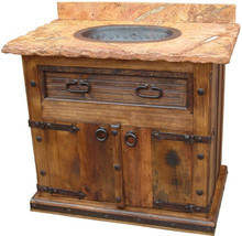 Pueblito Sink Cabinet w/ Full Marble Top