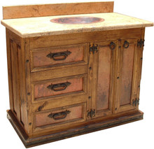 Sonora Sink Cabinet w/ Full Marble Top