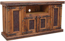 Tooled Leather TV Stand