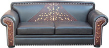 Morelia Tooled Leather Sofa