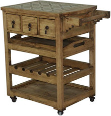 Stone Top Service Cart