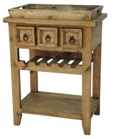 Wine Rack Cabinet w/ Tray