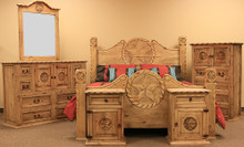 Round Star w/ Rope King 6pc Bedroom Set