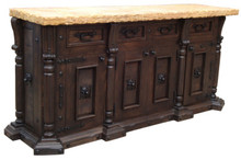 Colonial 4 Door Marble Top Buffet