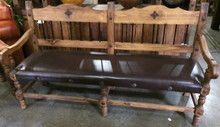 Torno 72'' Bench w/ Leather