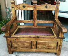 Torno 48'' Trunk Bench w/ Leather