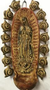 Virgen Pila w/ Roses