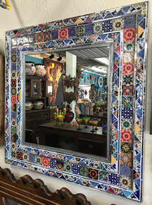 Square Tile & Glass Mirror