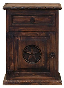 Round Star w/ Rope Left Nightstand - DR