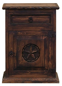 Round Star w/ Rope Right Nightstand - DR