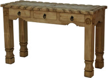 Stone Top Console Table w/ Star