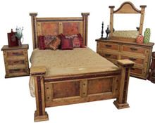 Finca Copper 4pc King Bedroom Set -HF