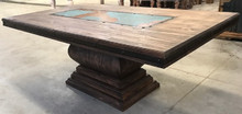 Gitana Rectangular Dining Table w/ Blue Copper