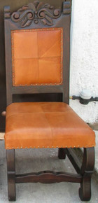 Hacienda Carved Chair w/ Naranja Leather