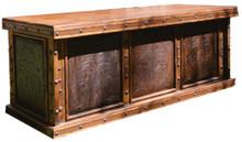 Tooled Leather Desk