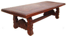 Mesquite 96'' Concha Carved Dining Table