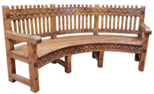 Las Cruces 88'' Curved Bench
