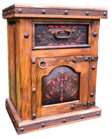 Pedregal Tooled Leather Nightstand