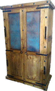 Finca Armoire w/ Blue Copper