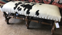 Cowhide Pinta Bench 25% OFF * 1 LEFT AT THIS PRICE